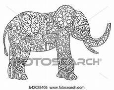 Malvorlage Erwachsene Elefant Elefant Ausmalbilder Vektor F 252 R Erwachsene Clipart
