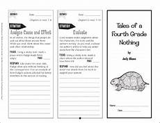 tales of a fourth grade nothing response trifold printable bookmarks toppers and skills sheets