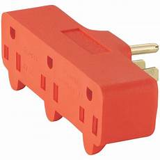 eaton 15 125 volt 5 15 three outlet tap orange 4402rn box the home depot