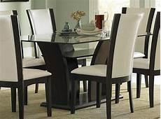 homelegance rectangular glass dining in 2020 dining table design glass dining room