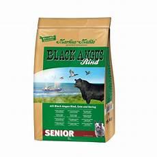 hundefutter black angus senior trockenfutter markus