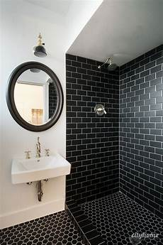 Black And White Subway Tile Bathroom Ideas by 10 Gorgeous Bathrooms With Black Tile Bathroom Design