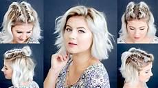 4 easy short hairstyles tutorial milabu youtube
