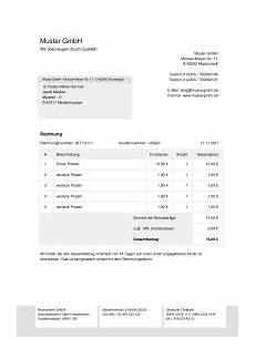 Rechnungsvorlage Privat Rechnung Schreiben