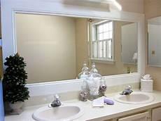 Framed Bathroom Mirror Ideas How To Frame A Bathroom Mirror