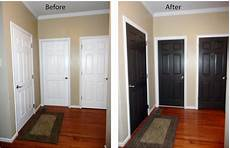 black interior doors before and after black interior