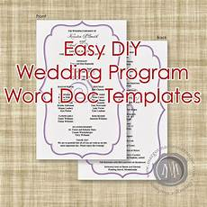 margotmadison diy wedding program word doc templates now available dream wedding wedding