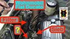 wohnmobil ducato dieselfilter wechseln sieb reinigen und