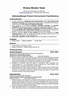 resume viviana teran marketing manager product