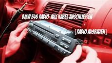 bmw e46 radio aux kabel anschlie 223 en radio ausbauen