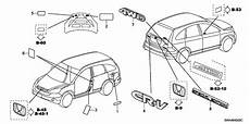 honda parts diagram 75722 swa 003 genuine honda emblem rr cr v throughout honda crv parts diagram