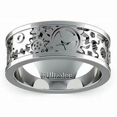 gear channel men s wedding ring in white gold