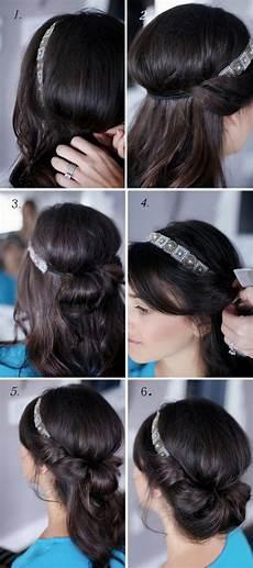 Einfache Frisuren Mit Haarband - schnell und einfach gehende diy trendy frisuren