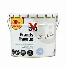 V33 Peinture Grands Travaux Blanc Mat 12l Comparer Avec