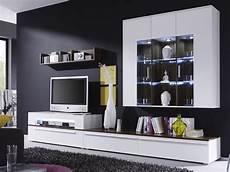 möbel wohnzimmer weiß wohnwand criss weiss walnuss 312x190x47 schrankwand