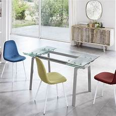 esstisch aus glas ausziehbarer esstisch aus glas l 140 200x p 80 cm nardo