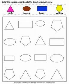 colors shapes worksheets 12808 match the colors to their shapes worksheet turtle diary