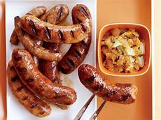 sausages with grilled onion chowchow recipe grace parisi food wine