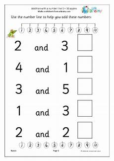 adding with a number line apples addition maths worksheets for later reception age 4 5