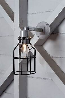 industrial wall l outdoor black wire cage exterior wall sconce l