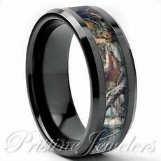 tungsten real oak forest camo ring brown mossy tree wedding band mens black 8mm ebay