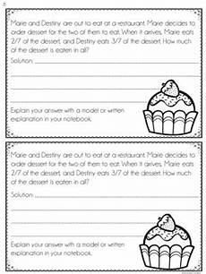 word problem worksheets 4th grade 10946 4th grade fraction word problems interactive notebook by findley