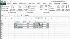 how to use minus function in excel ms excel tips