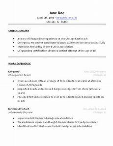 lifeguard resume sle college tips resume resume exles sales resume exles