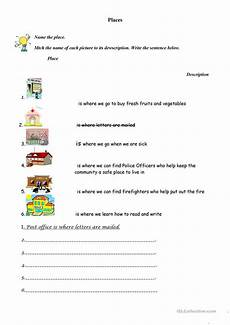 places in community worksheets 15955 places in our community worksheet free esl printable worksheets made by teachers