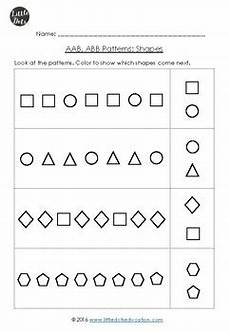 abstract patterns worksheets pdf 439 aab and abb patterns worksheets for kindergarten by dots tpt
