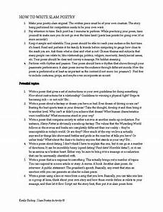 slam poetry worksheets 25356 slam poetry activity by keep the quot lit quot in literature tpt