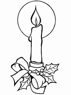 candela disegno decorazioni natalizie da colorare