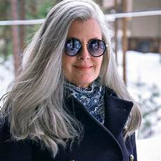 celebrating women with long grey hair 40 plus style 3 ways to wear gray hair over 40 grey hair over 50 long gray hair grey hair styles for women