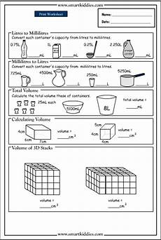 measurement capacity worksheets grade 2 1716 converting and calculating volume studyladder interactive learning