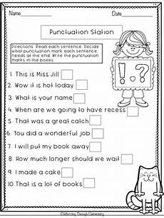 free punctuation worksheet for grade 1 punctuation worksheets punctuation english grammar