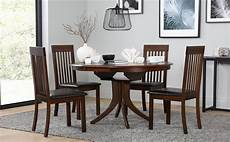Hudson Extending Wood Dining Table And 4 Oxford