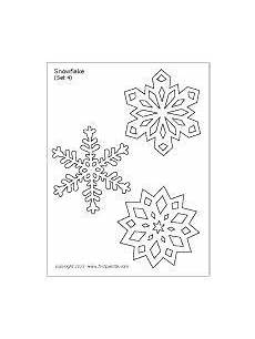 snowflake printable templates coloring pages