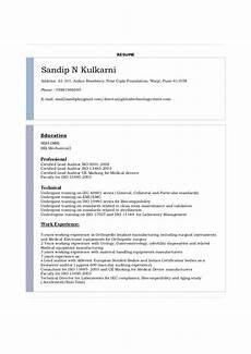 resume template for iec resume of sandip n kulkarni