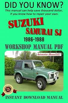 car repair manuals online pdf 1992 suzuki samurai user handbook suzuki samurai sj service repair manual 1986 1988 suzuki samurai suzuki samurai