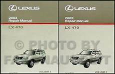 free car repair manuals 2003 lexus lx parking system 2003 lexus lx 470 repair shop manual new original set lx470 oem service 2 volume ebay