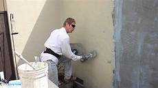 re coat a painted wall with new stucco complete
