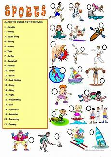 sports worksheets for esl students 15722 vocabulary sports englanti