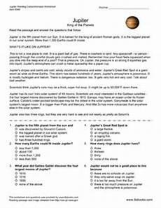 jupiter king of the planets 5th 6th grade worksheet