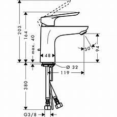 hauteur montage mitigeur logis e single lever basin mixer 100 with pop up waste set