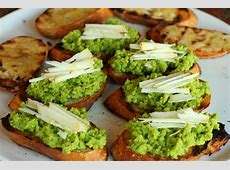 crostini with fava beans and ricotta salata_image