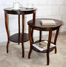massivholz beistelltisch teetisch tisch oval 75 holz