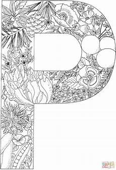 colouring pages for adults of animals letters 17309 ausmalbild der buchstabe p ausmalbilder kostenlos zum ausdrucken