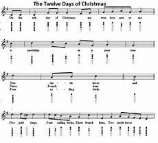 the twelve days of christmas tin whistle sheet music irish folk songs