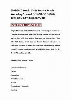 how to download repair manuals 1990 suzuki swift regenerative braking 2004 2010 suzuki swift service repair workshop manual download 2004