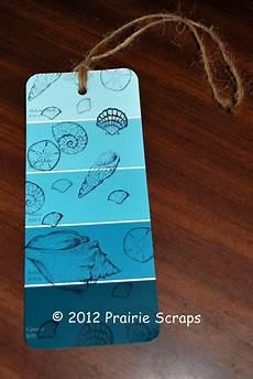 prairie scraps paint chip bookmark mops craft
